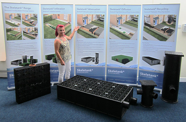 The Charcon Skeletank exhibition display for the 2015 Housing Forum National Conference