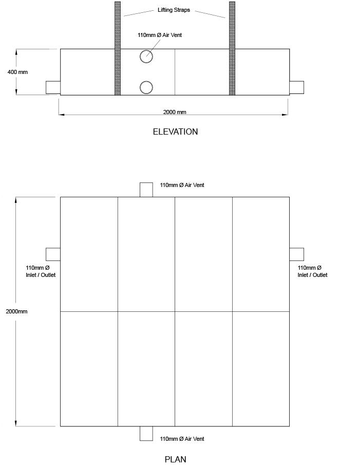 Skeletank SELH01002 1500L CAD details 2016
